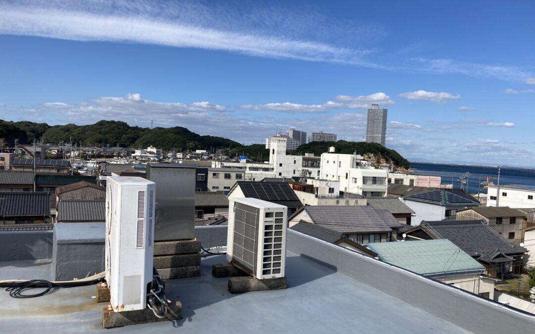 松新の上空からの景色